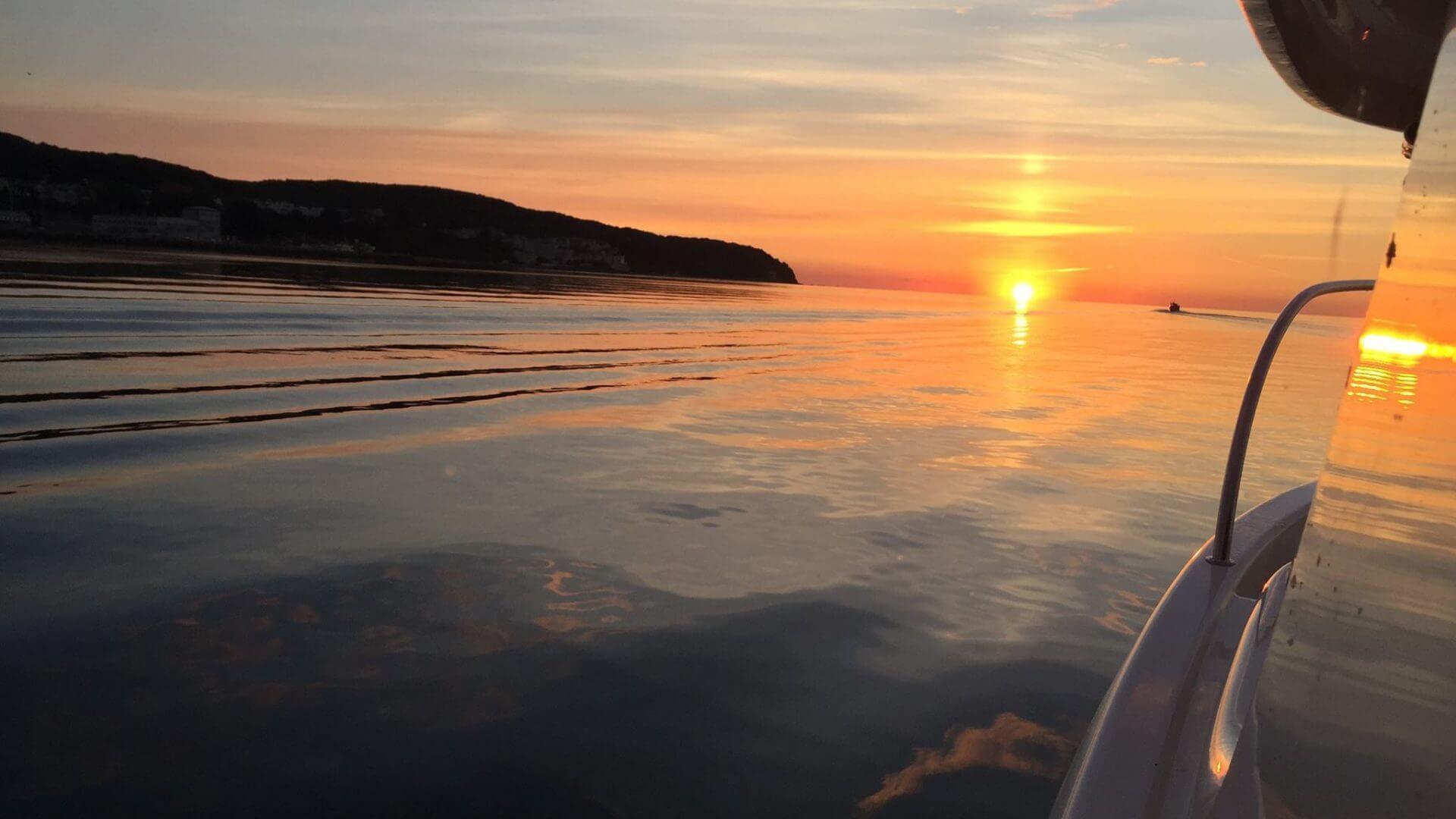 Sonnenuntergang beim Dorschangeln
