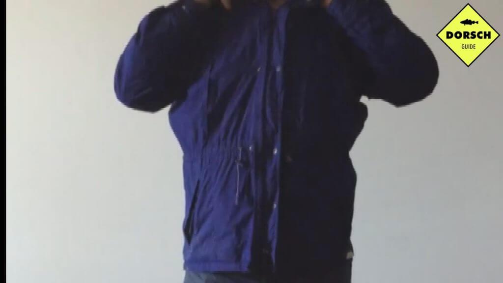 Wasserdiche Jacke zum Dorschangeln