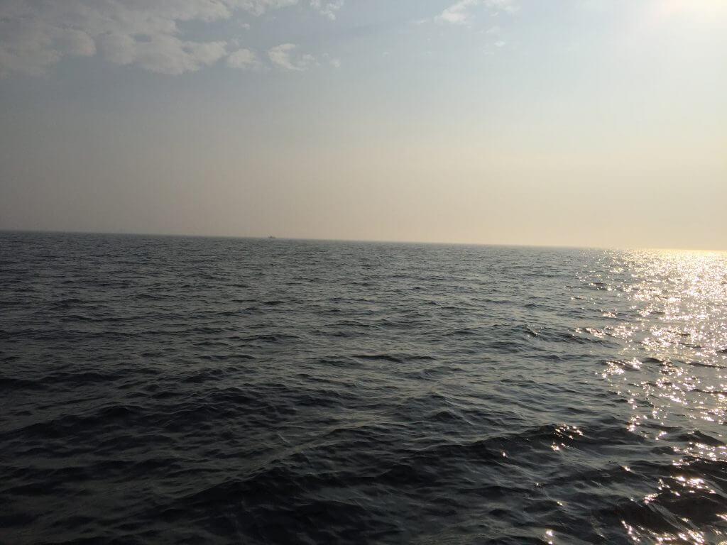 Spiegelglatte-Ostsee beim Dorschangeln