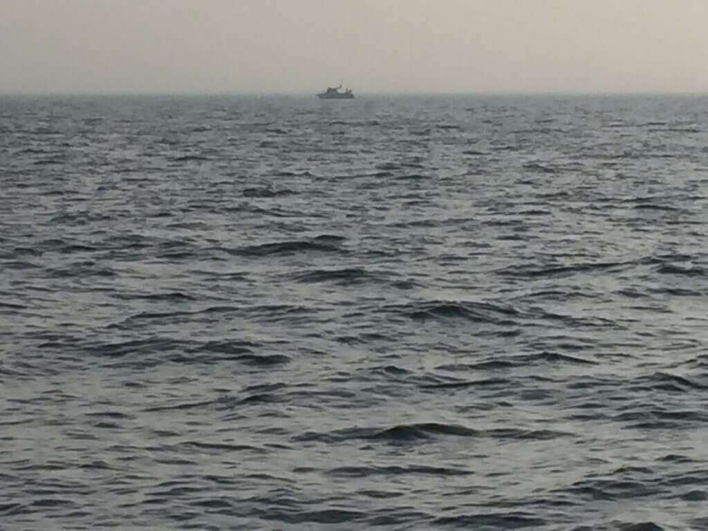 Angelboot beim Dorschangeln