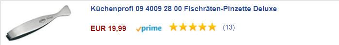 Küchenprofi 09 4009 28 00 Fischräten-Pinzette Deluxe