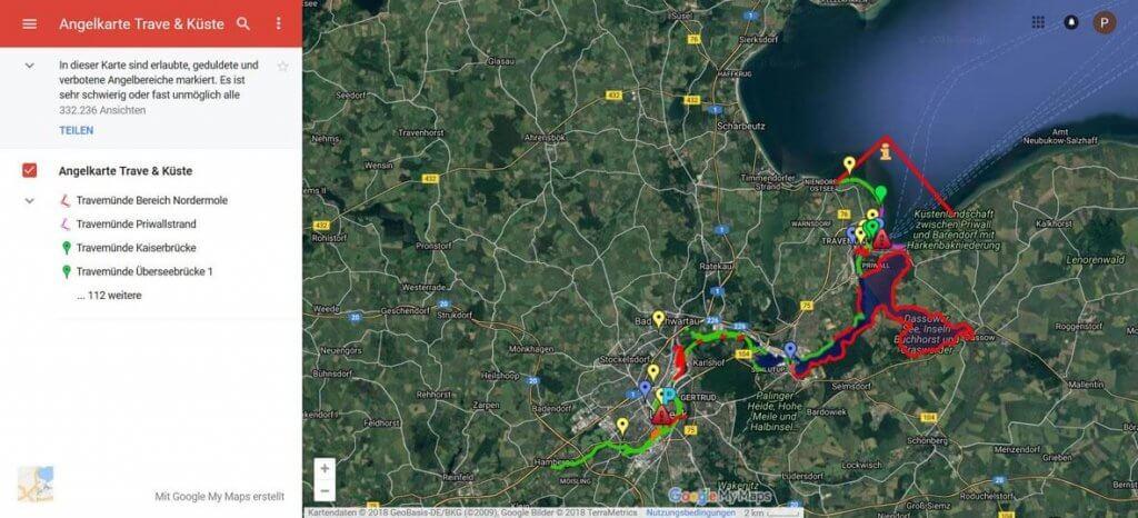 Diese Übersicht fürs Angeln in Lübeck an Trave & Küste ist einfach genial!
