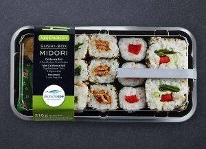 🛒 Vegarische Sushi-Box Midori<br>ℹ️ Online kaufen auf dorsch-guide.de