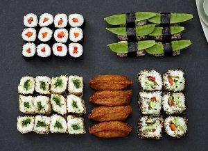 🛒 Vegetarische Sushi-Mix-Box<br>ℹ️ Online kaufen auf dorsch-guide.de