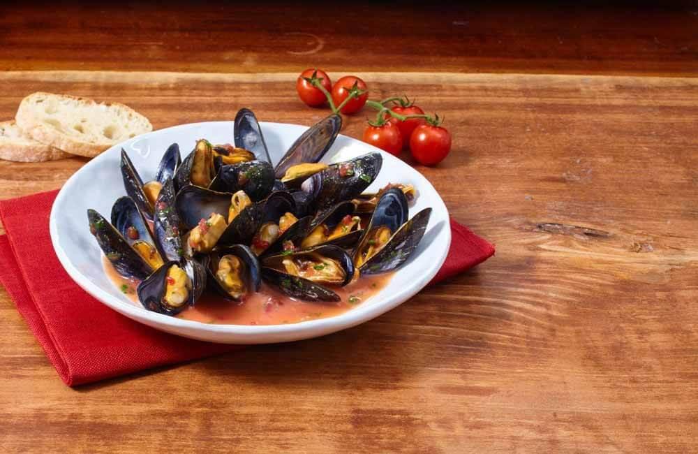 Wattenmeer Miesmuscheln (MSC-zertifiziert) in Tomatensauce | Muscheln  online bestellen auf dorsch-guide.de